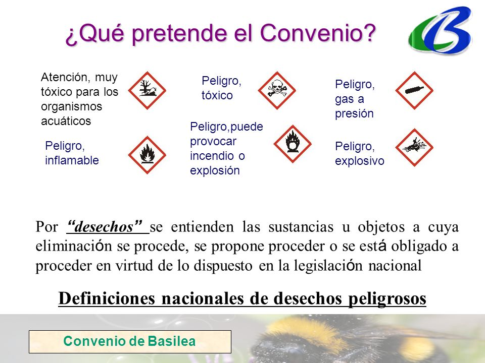 Definiciones nacionales de desechos peligrosos