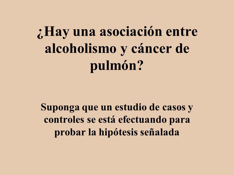 ¿Hay una asociación entre alcoholismo y cáncer de pulmón