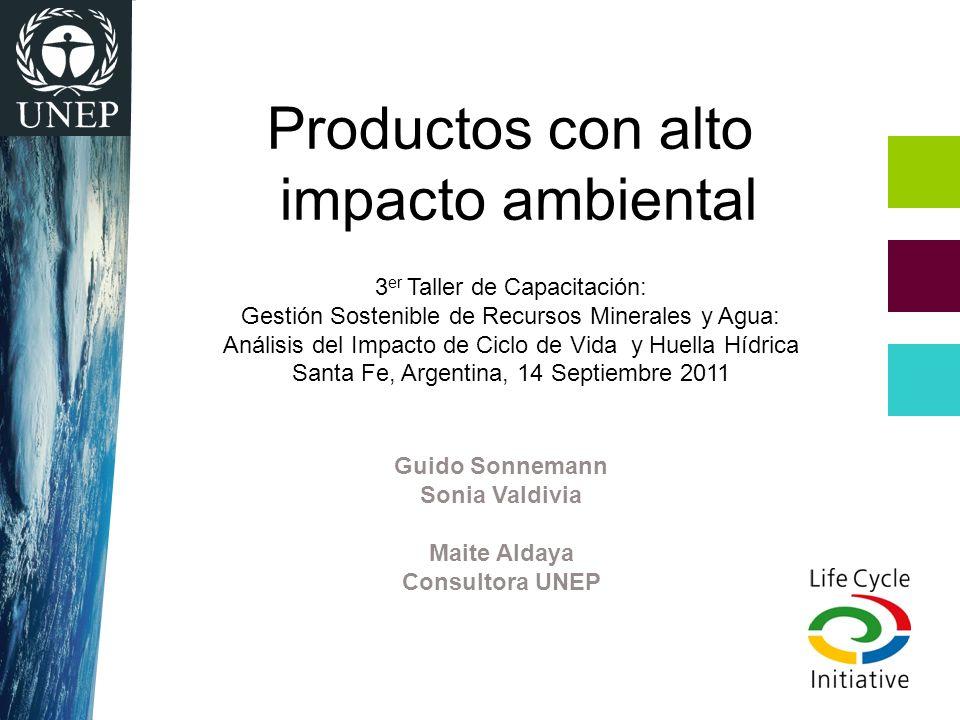 Productos con alto impacto ambiental 3er Taller de Capacitación: