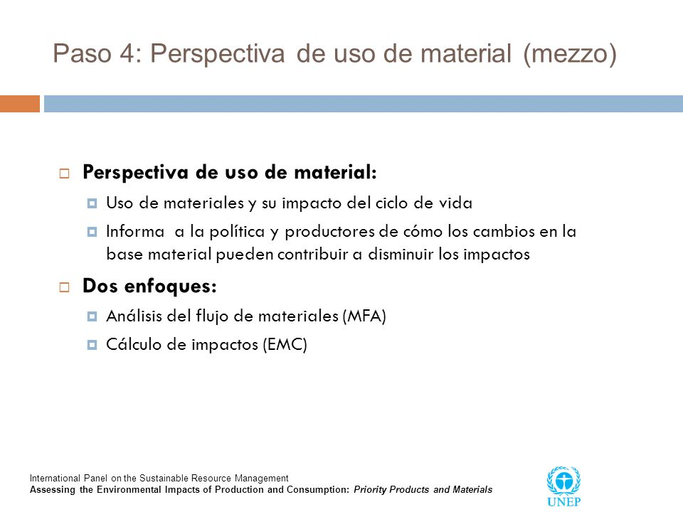 Paso 4: Perspectiva de uso de material (mezzo)