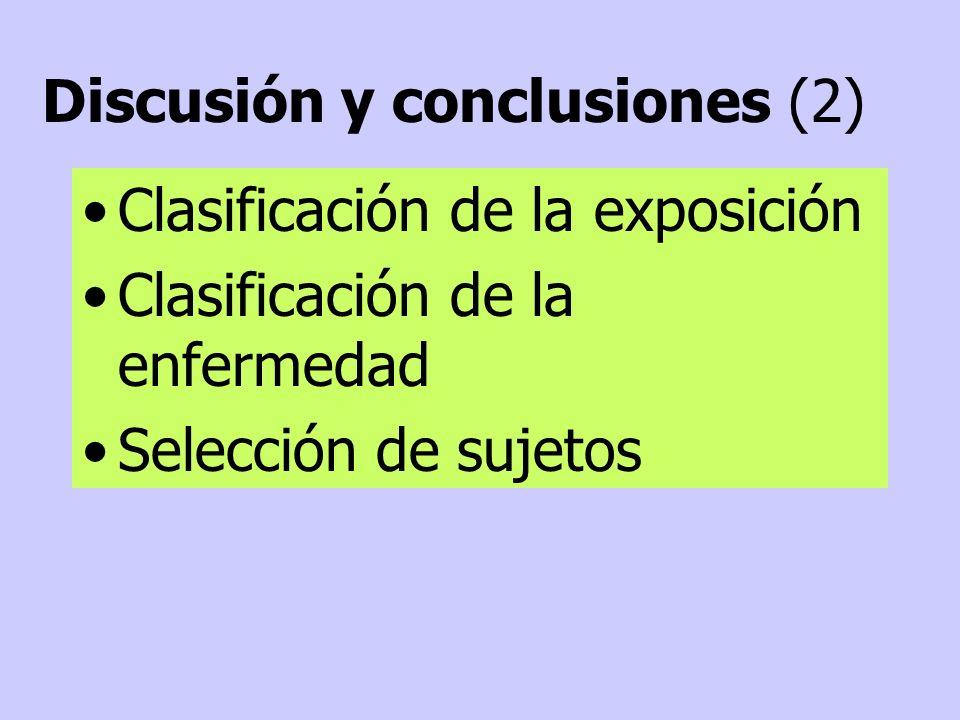 Discusión y conclusiones (2)