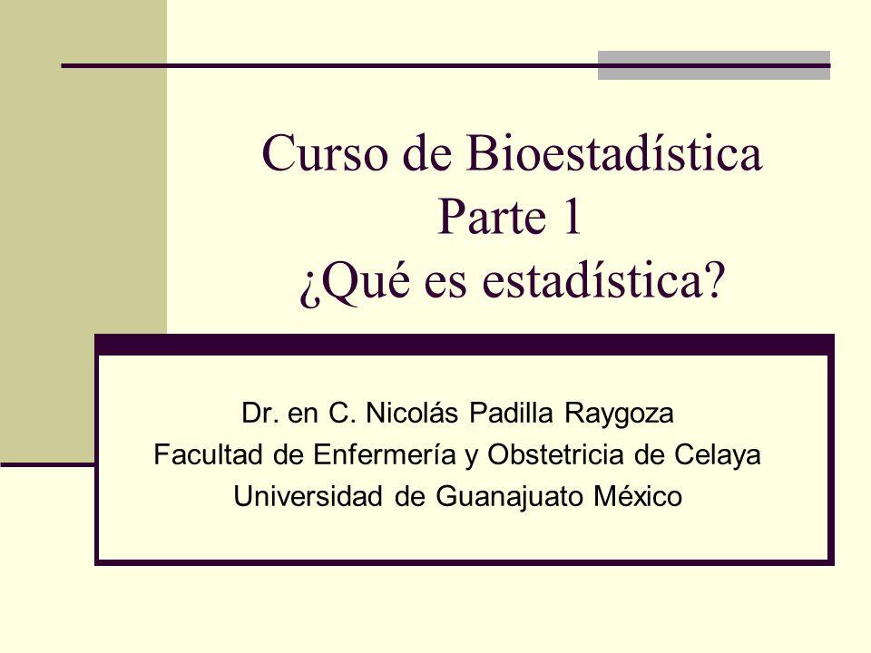 Curso de Bioestadística Parte 1 ¿Qué es estadística