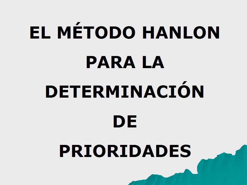 EL MÉTODO HANLON PARA LA DETERMINACIÓN DE PRIORIDADES