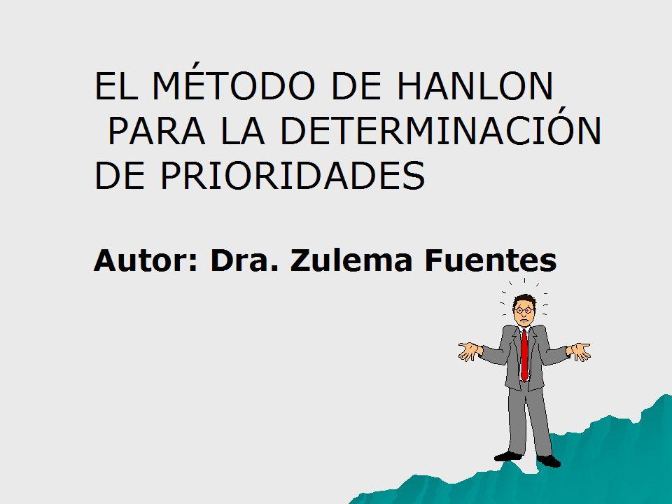 EL MÉTODO DE HANLON PARA LA DETERMINACIÓN DE PRIORIDADES