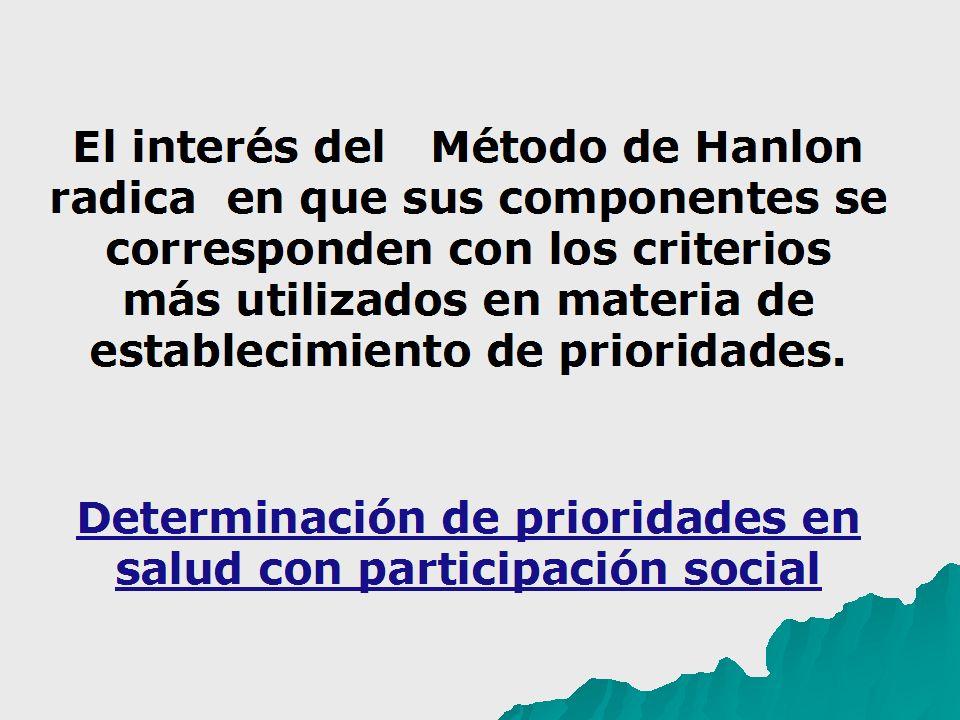 Determinación de prioridades en salud con participación social