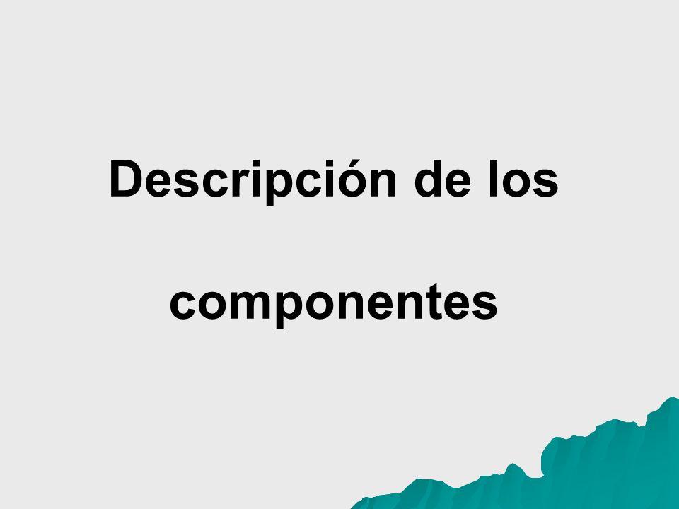 Descripción de los componentes