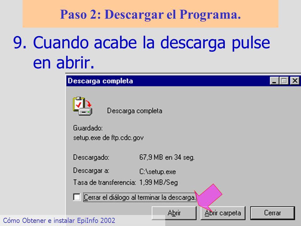 Paso 2: Descargar el Programa.