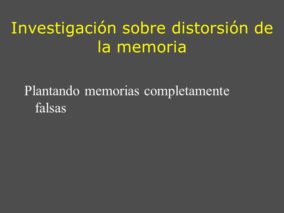 Investigación sobre distorsión de la memoria