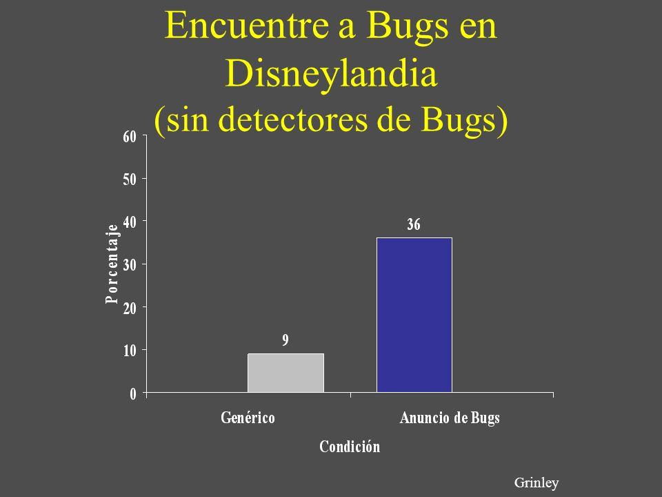 Encuentre a Bugs en Disneylandia (sin detectores de Bugs)