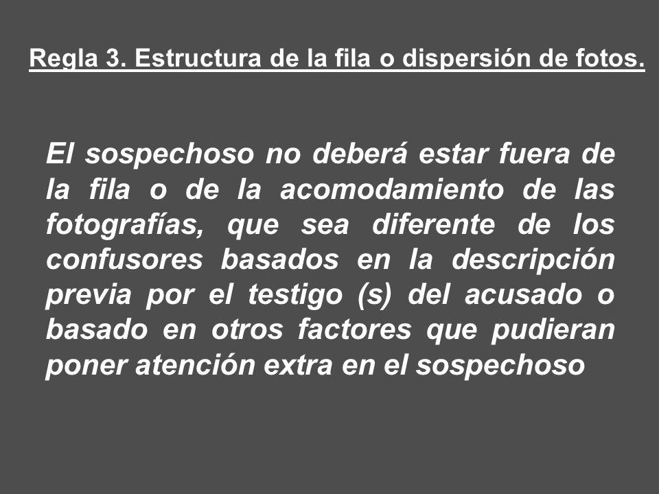 Regla 3. Estructura de la fila o dispersión de fotos.