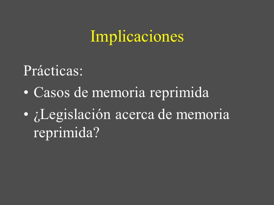 Implicaciones Prácticas: Casos de memoria reprimida