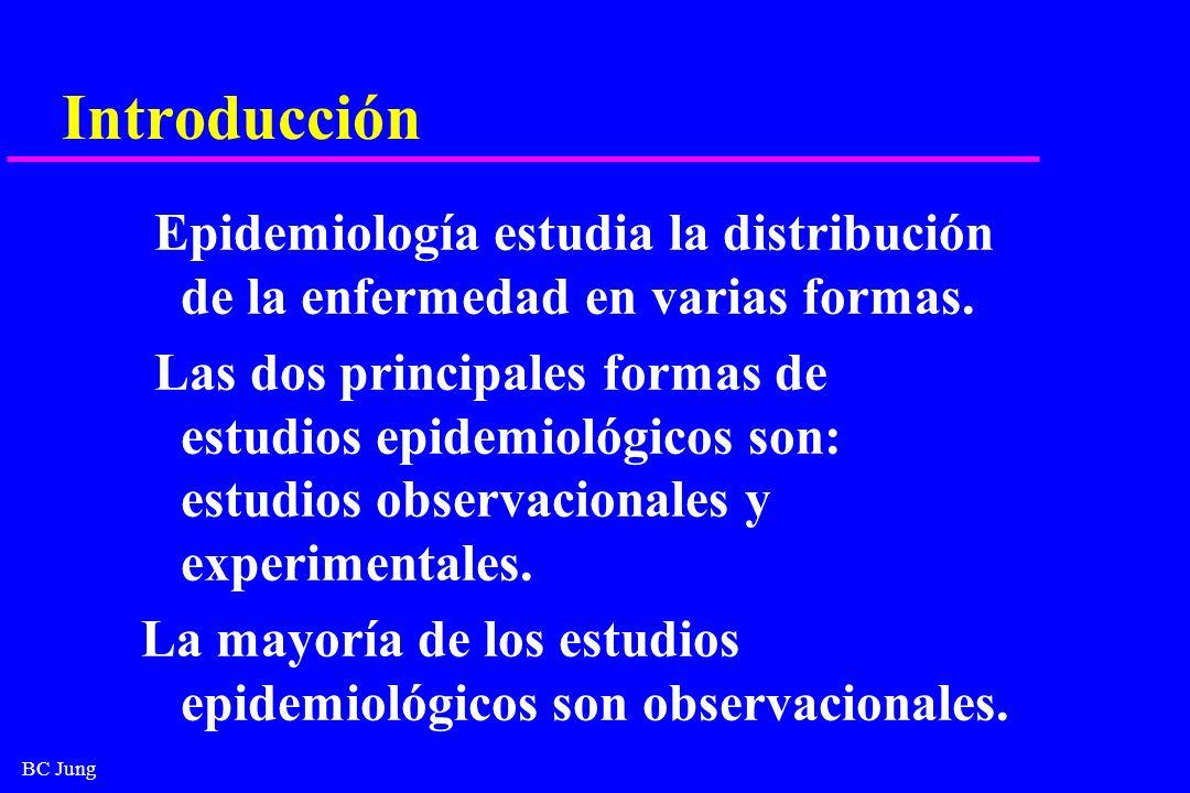Introducción Epidemiología estudia la distribución de la enfermedad en varias formas.