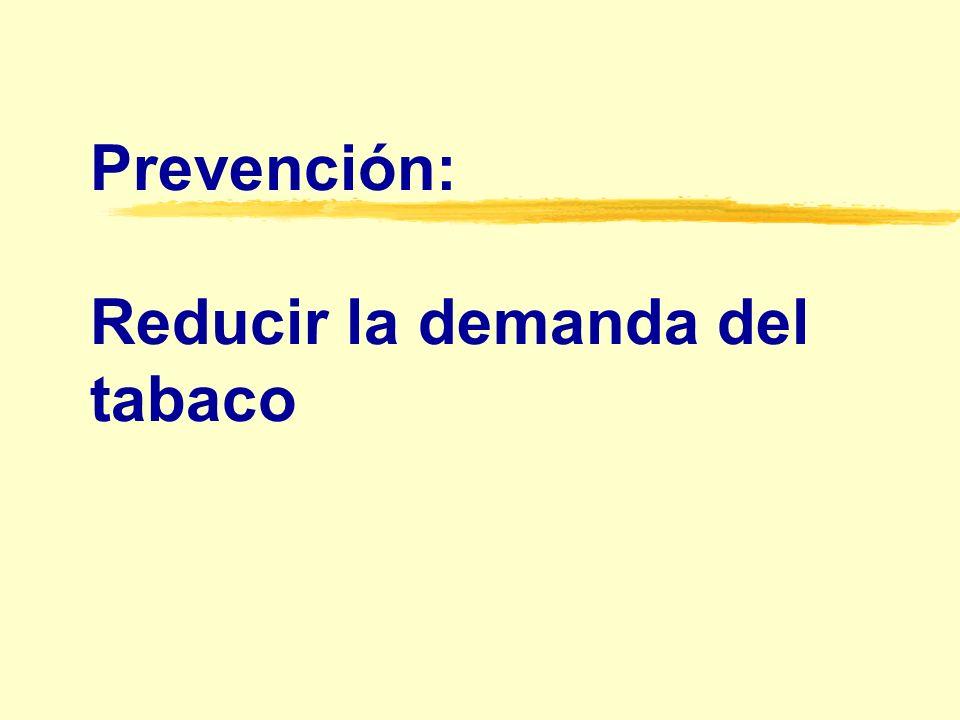 Prevención: Reducir la demanda del tabaco