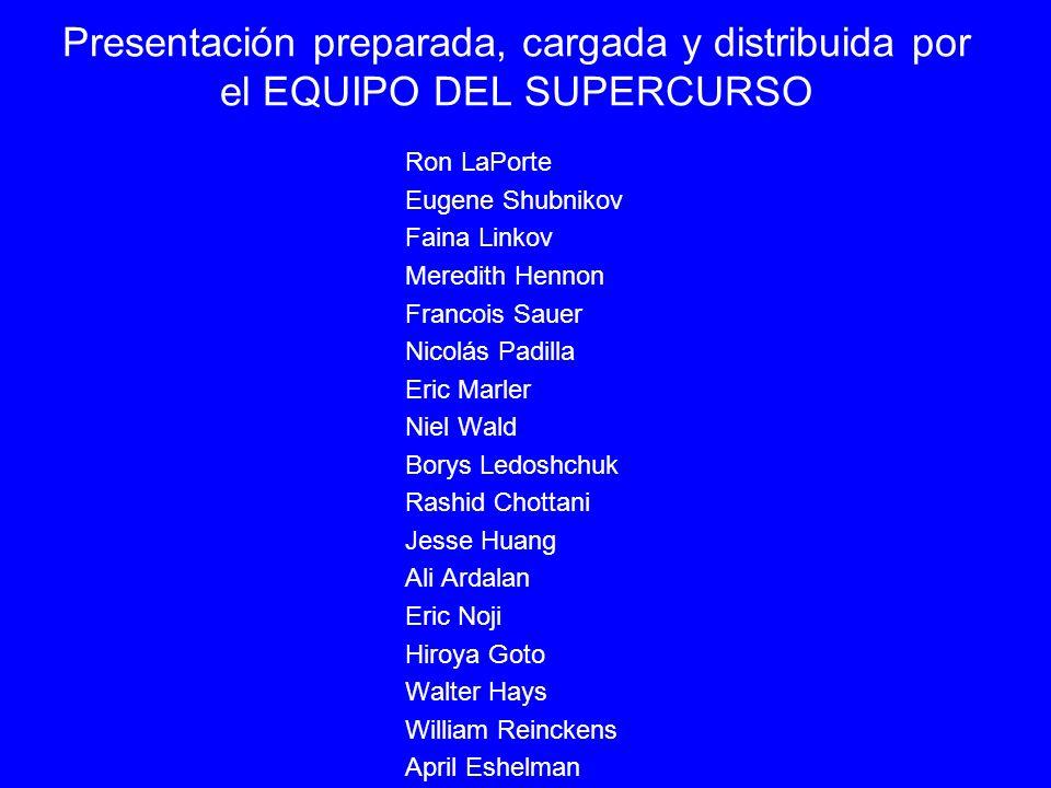 Presentación preparada, cargada y distribuida por el EQUIPO DEL SUPERCURSO