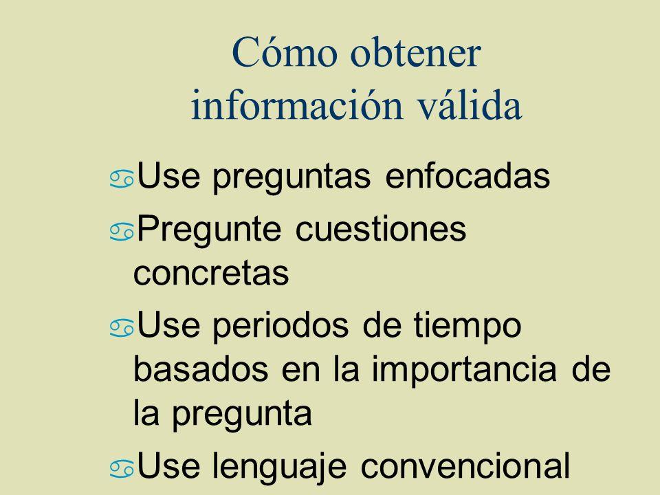 Cómo obtener información válida