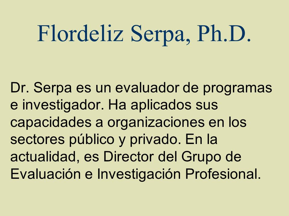 Flordeliz Serpa, Ph.D.