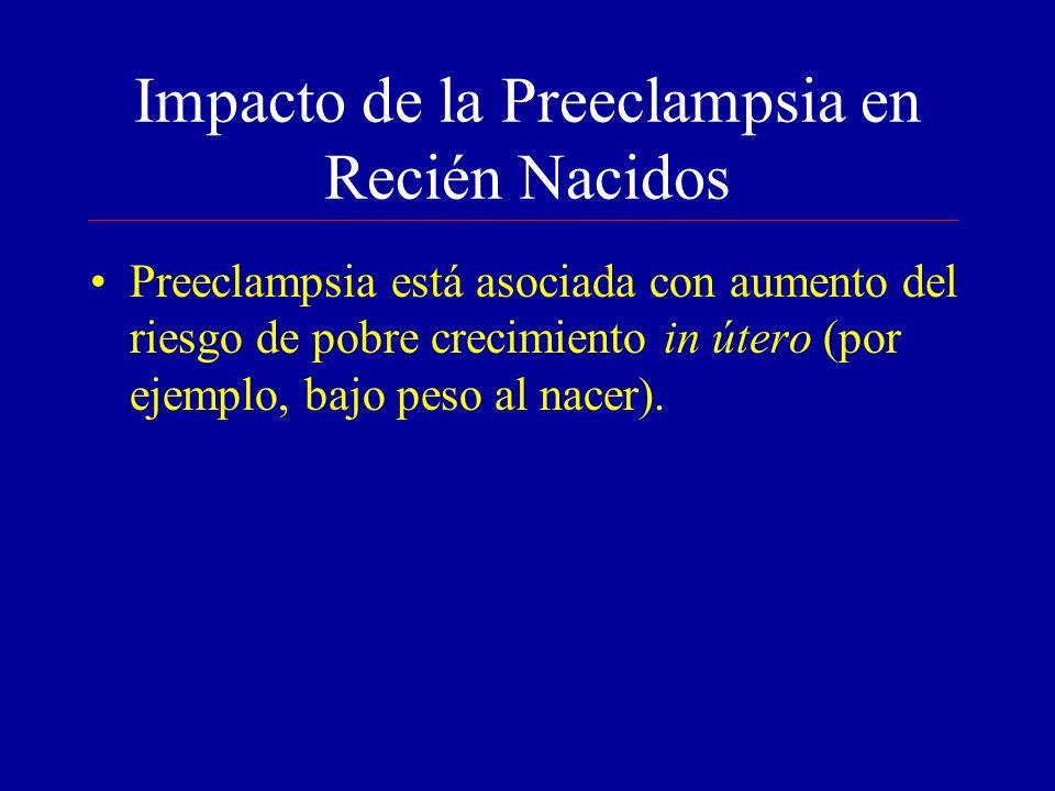 Impacto de la Preeclampsia en Recién Nacidos