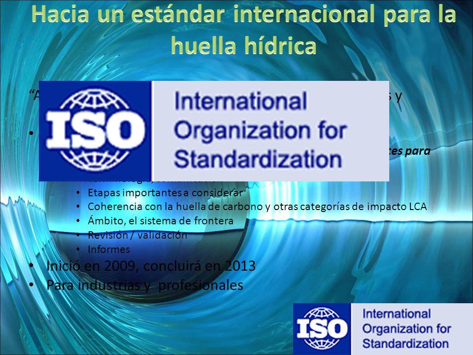 Hacia un estándar internacional para la huella hídrica