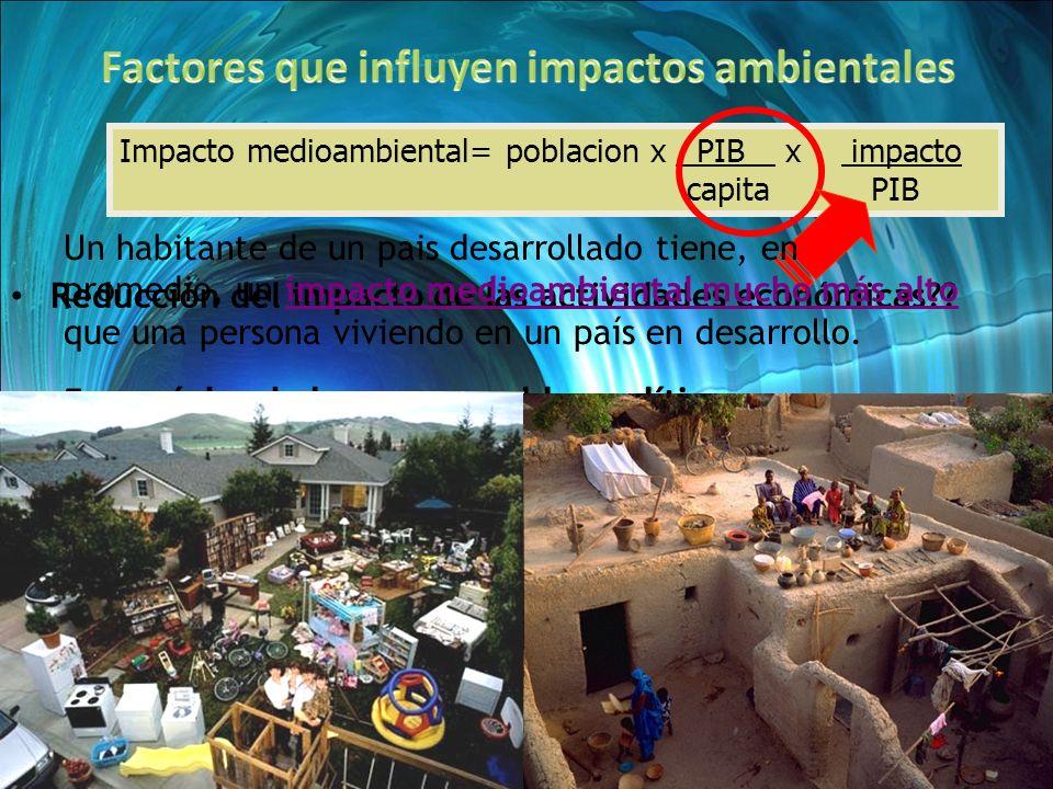 Factores que influyen impactos ambientales