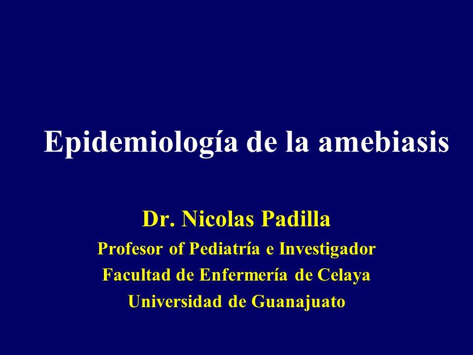 Epidemiología de la amebiasis