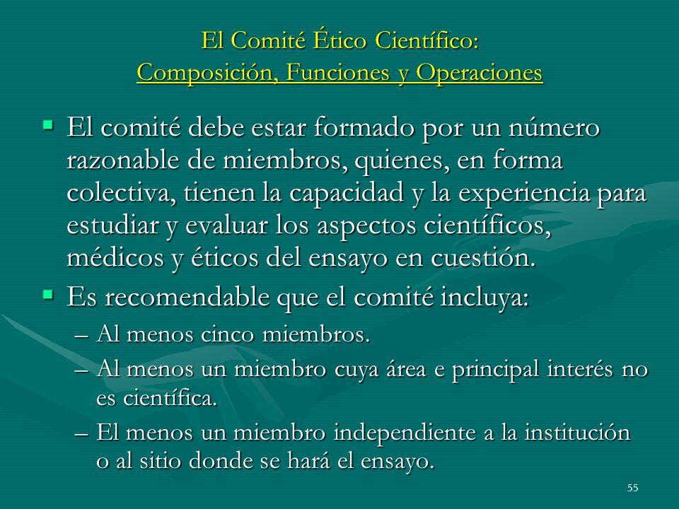 El Comité Ético Científico: Composición, Funciones y Operaciones