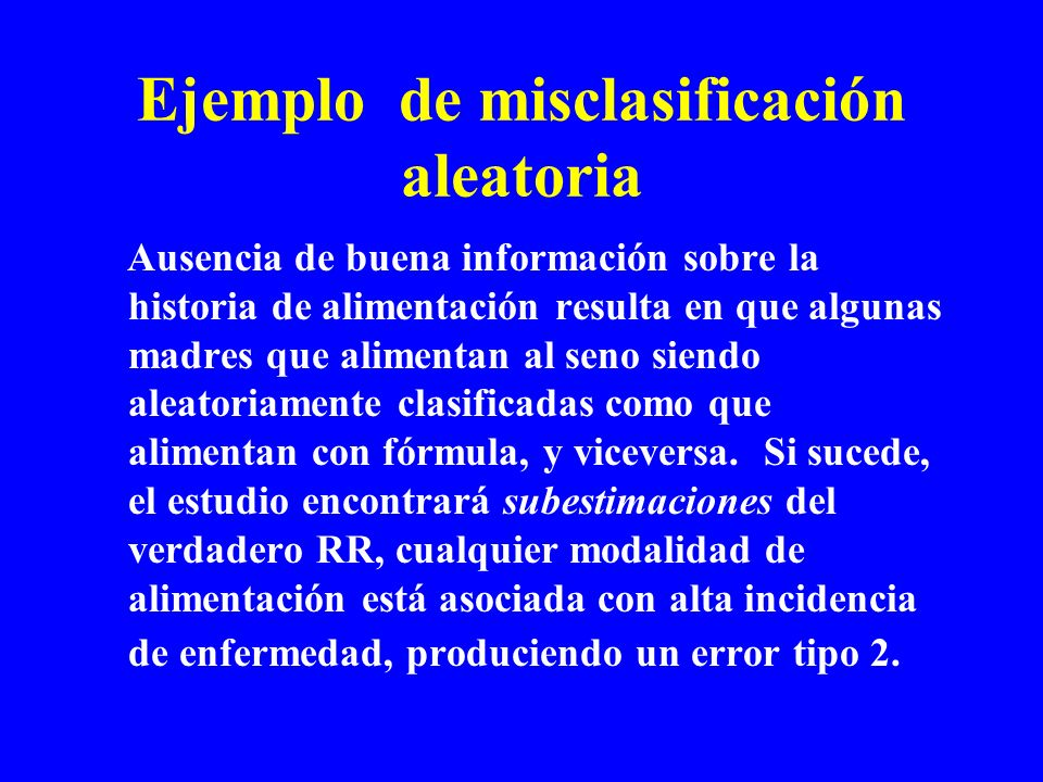 Ejemplo de misclasificación aleatoria