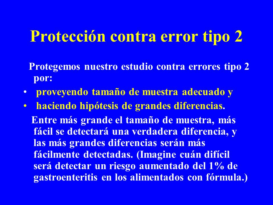 Protección contra error tipo 2