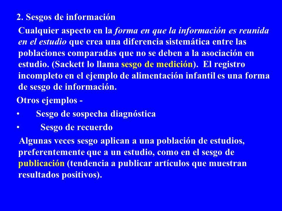 2. Sesgos de información