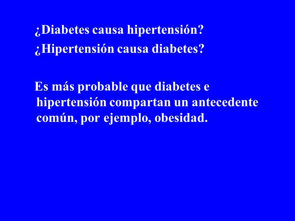 ¿Diabetes causa hipertensión