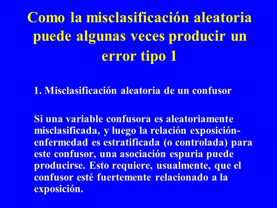 Como la misclasificación aleatoria puede algunas veces producir un error tipo 1