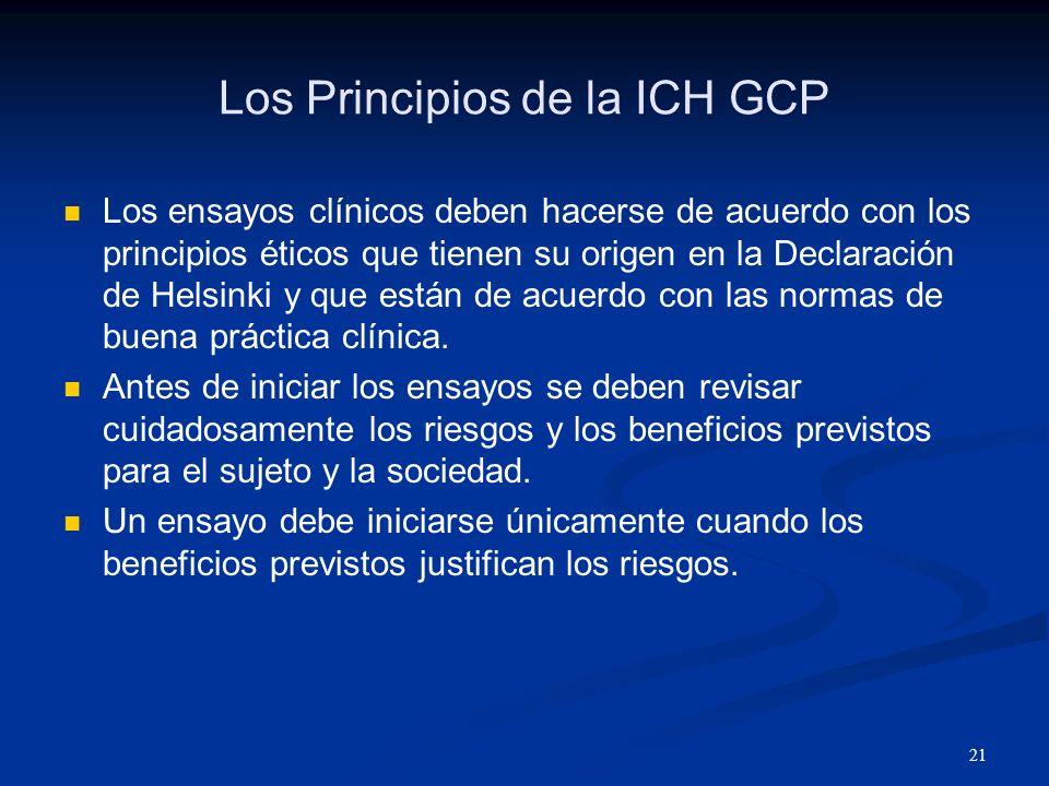 Los Principios de la ICH GCP