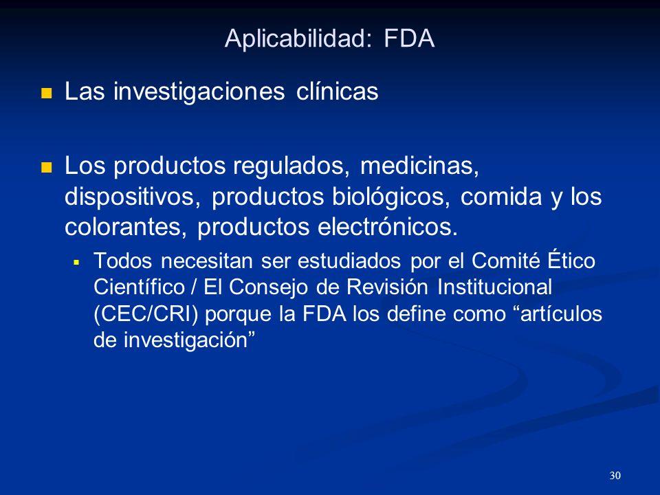 Las investigaciones clínicas