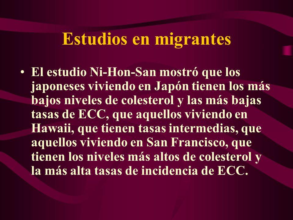 Estudios en migrantes