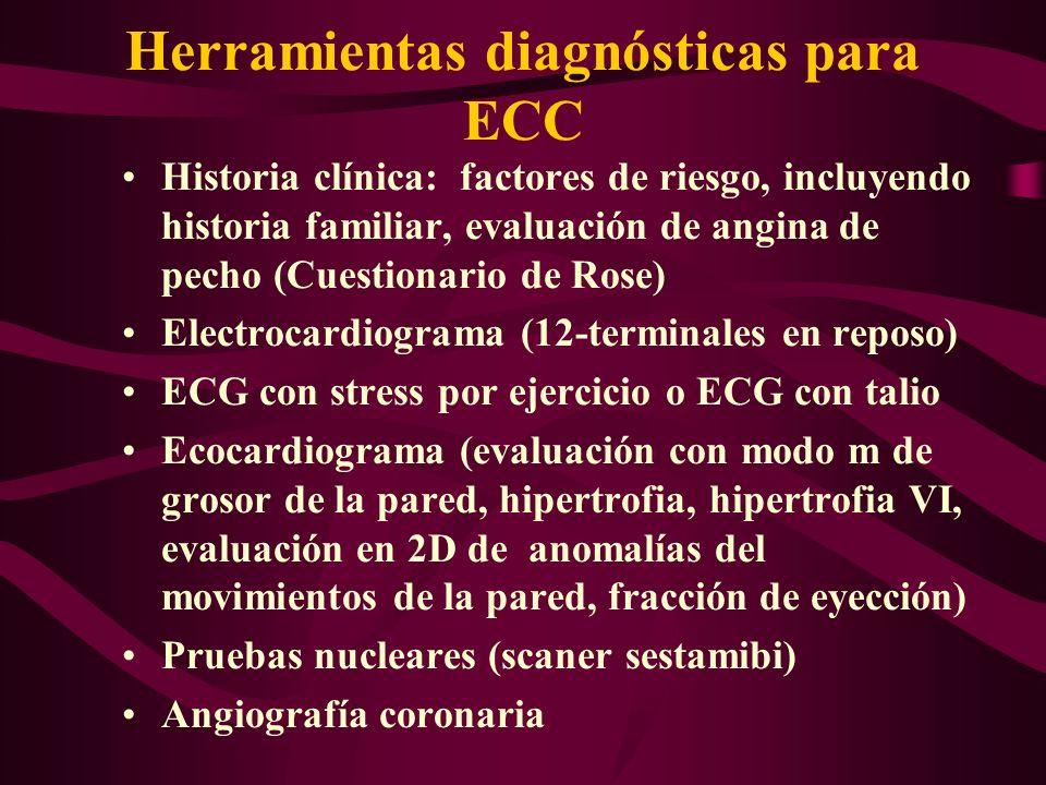 Herramientas diagnósticas para ECC