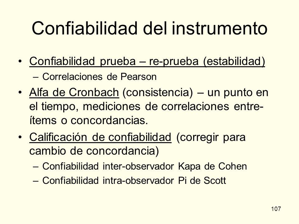 Confiabilidad del instrumento