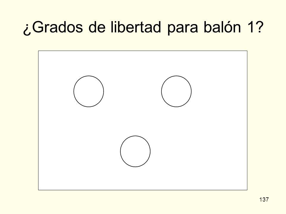 ¿Grados de libertad para balón 1