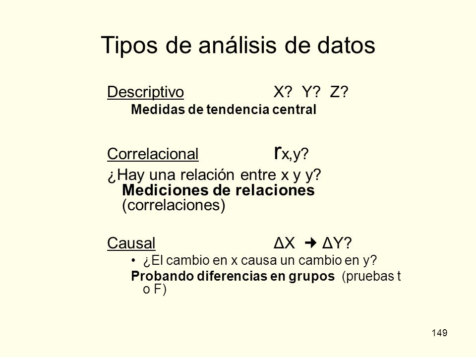 Tipos de análisis de datos