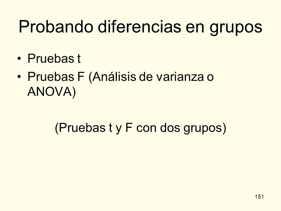 Probando diferencias en grupos