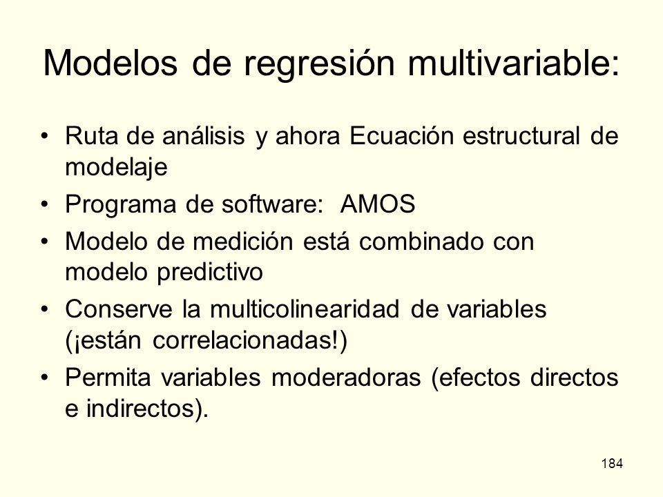 Modelos de regresión multivariable: