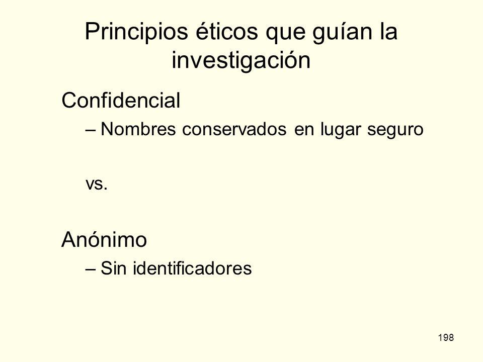 Principios éticos que guían la investigación