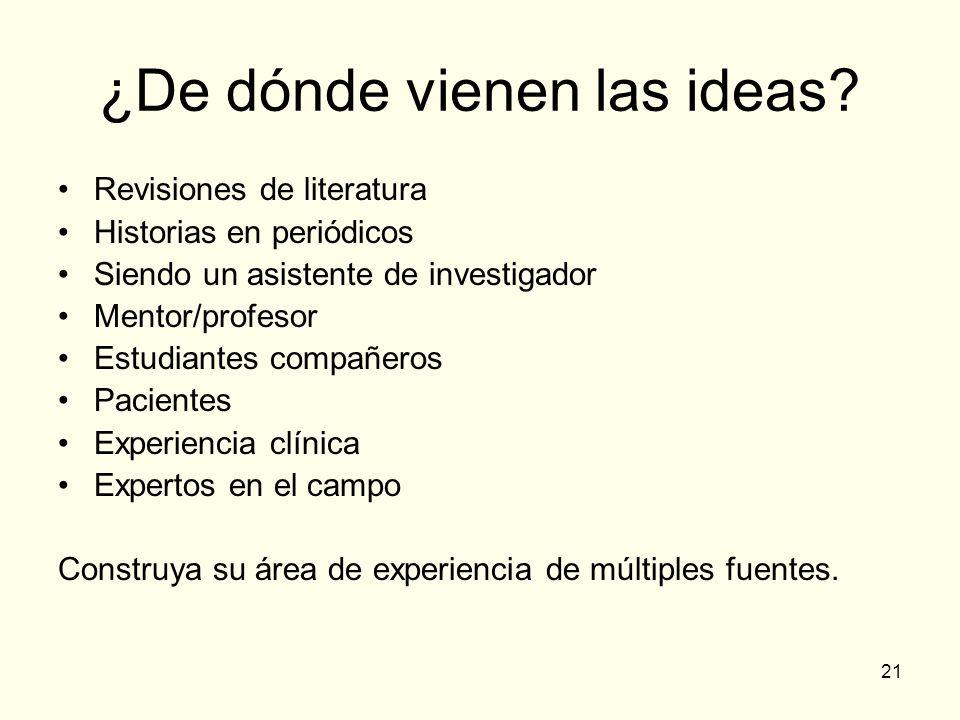 ¿De dónde vienen las ideas