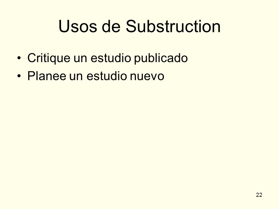 Usos de Substruction Critique un estudio publicado