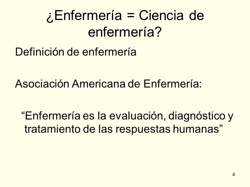 ¿Enfermería = Ciencia de enfermería