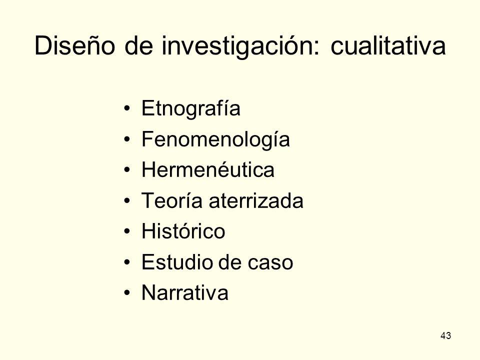Diseño de investigación: cualitativa