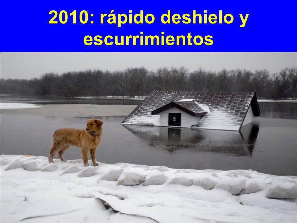 2010: rápido deshielo y escurrimientos