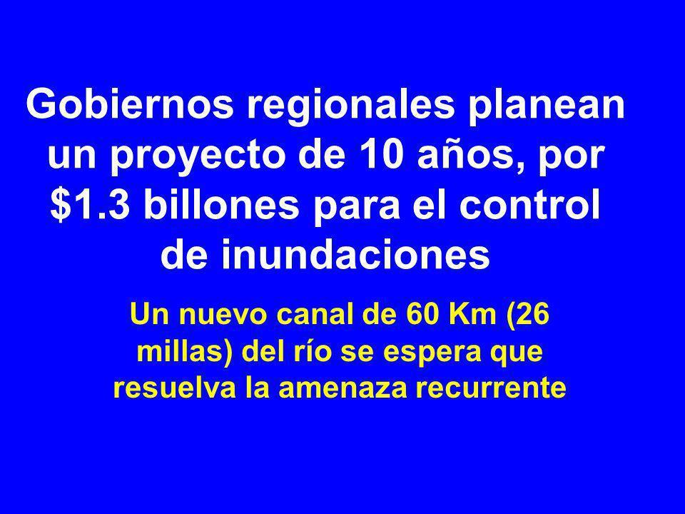 Gobiernos regionales planean un proyecto de 10 años, por $1
