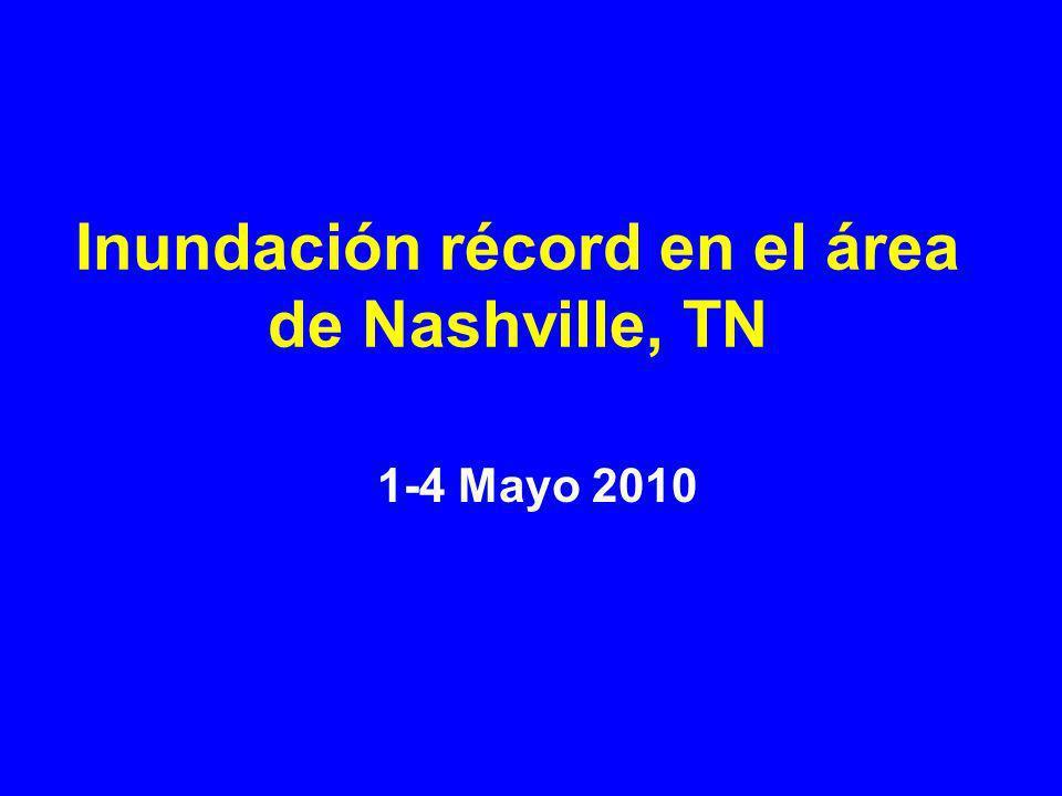 Inundación récord en el área de Nashville, TN