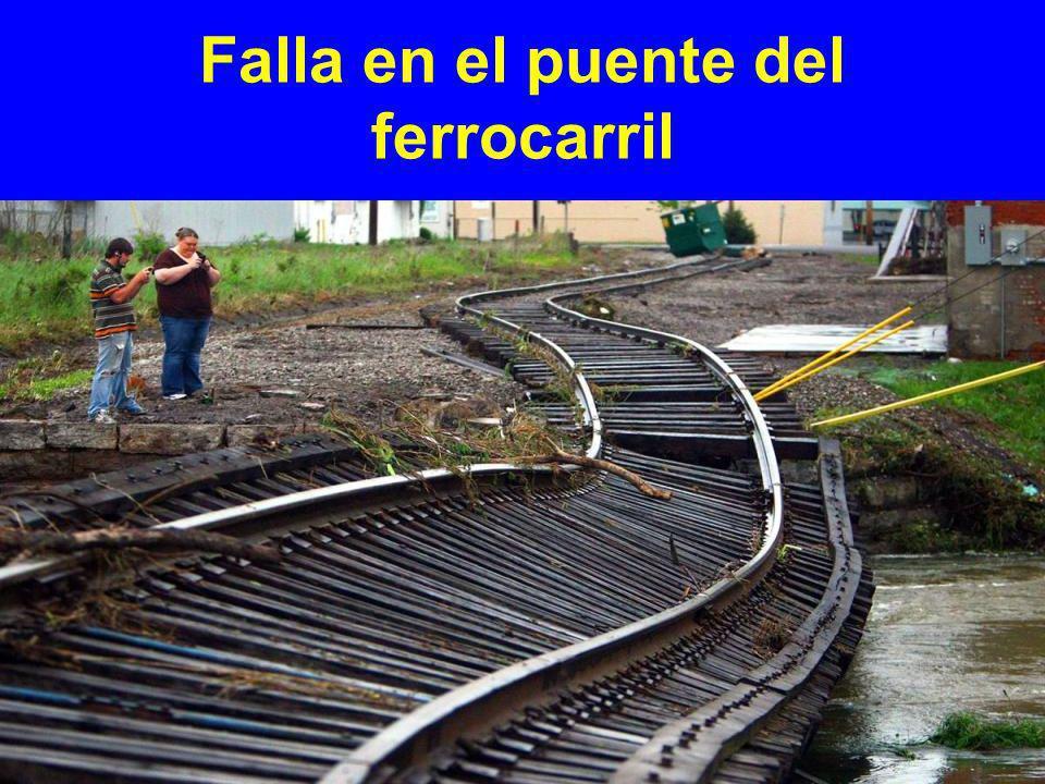 Falla en el puente del ferrocarril