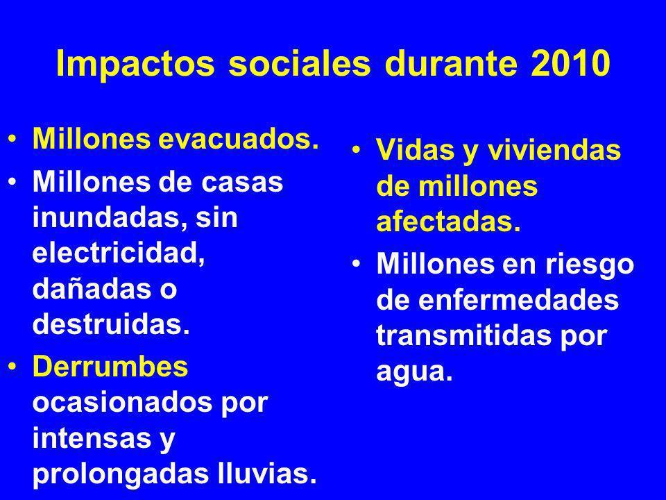 Impactos sociales durante 2010