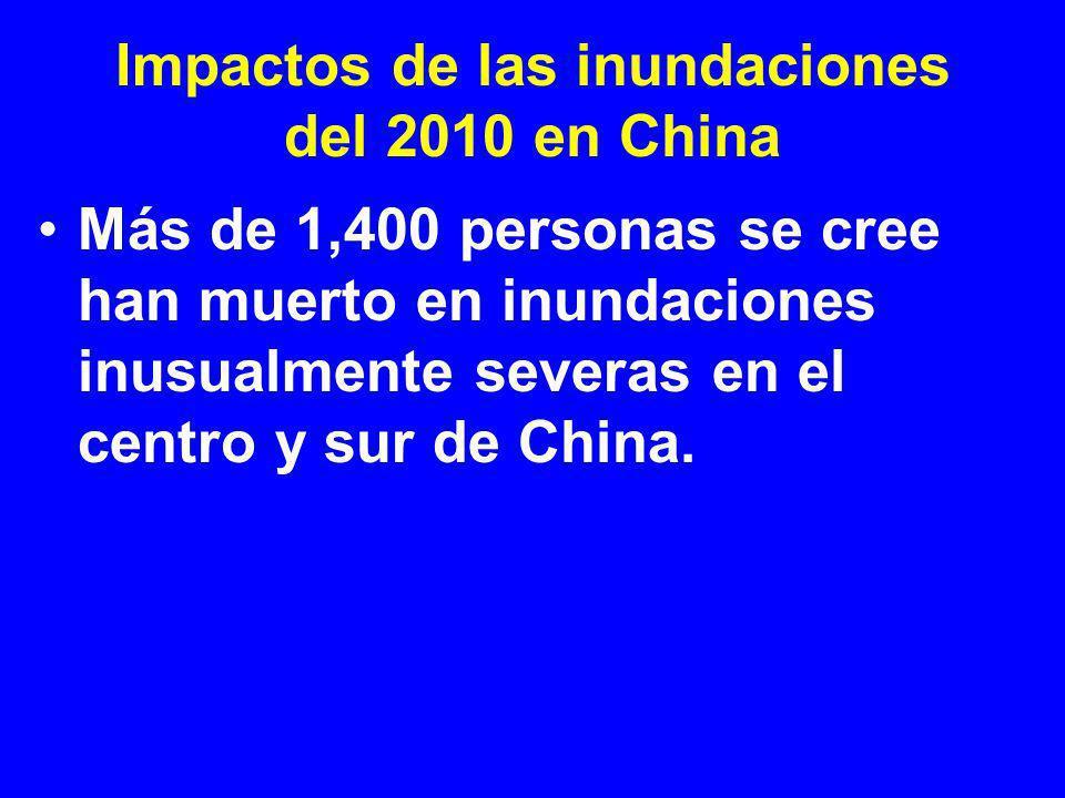 Impactos de las inundaciones del 2010 en China